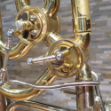 """King 6B """"Duo Gravis"""" Bass Trombone conversion from Dual Thumb Trigger String Linkage to Split Lever Minibal Linkages"""